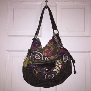 Fossil Floral Canvas & Leather Bag.